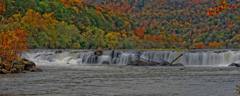 View of Sandstone Falls, left side, looking upriver