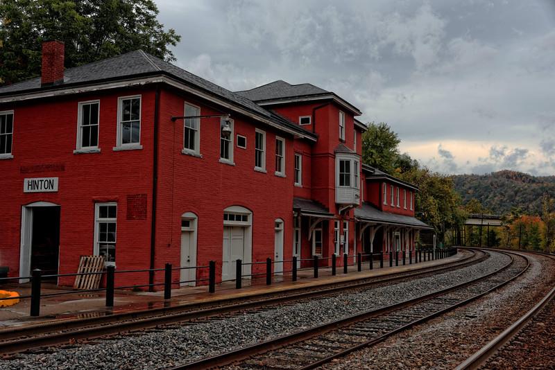 Hinton, WV, Amtrak Station.  Under restoration.