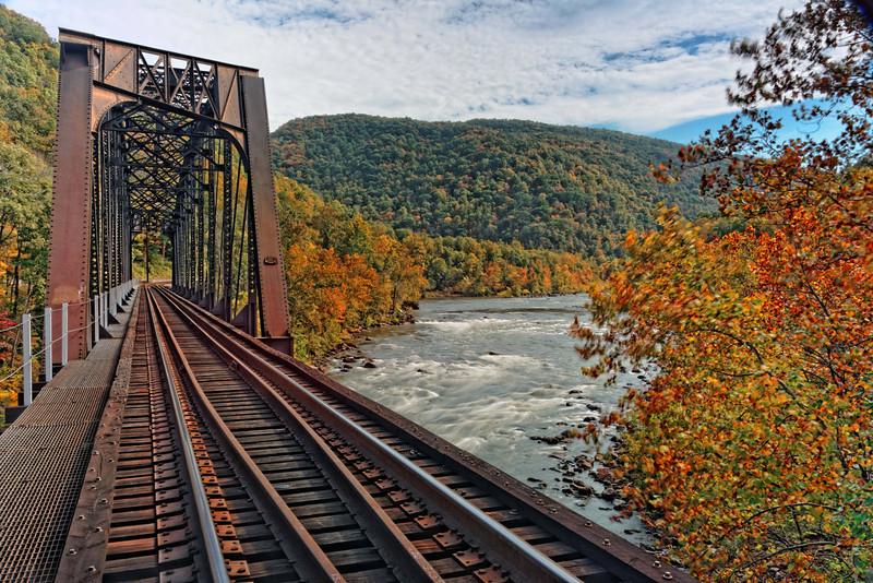 Railroad Bridge over the New River at Cunard 2