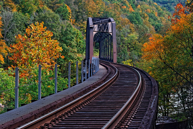 Railroad Bridge over New River at Cunard