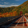 Vehicular and Train Bridges into Thurmond, WVA