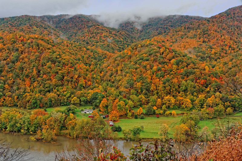 View of the New River from Hwy 20 near Sandstone, WVA