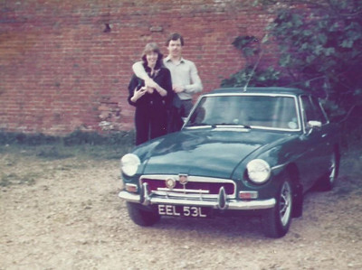Judith, Me & our car 1979.