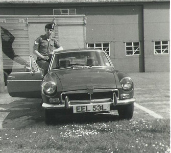 Me and MGB GT Bassingborne, Depot Queen's Division, 1977.