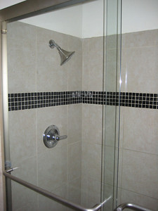 New shower completed