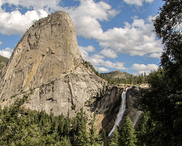 Liberty Cap and Nevada Fall - Yosemite Valley