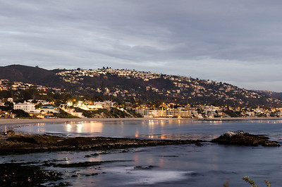 Laguna Beach, just before the rain and just after sunset.