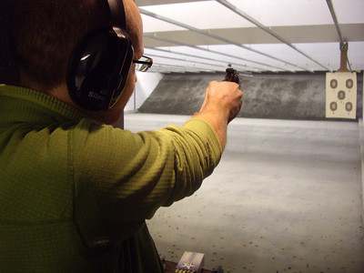 Shooting the 1898 Smith and Wesson 38 revolver that Papaw gave me.
