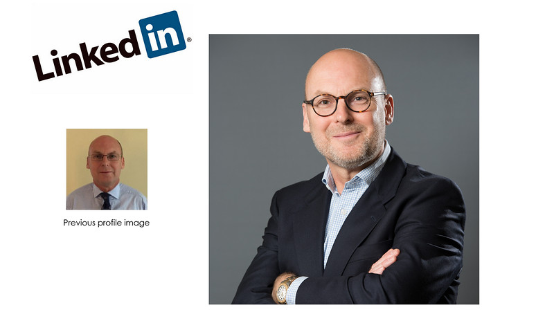 LinkedIn Profile Headshot - Before and After