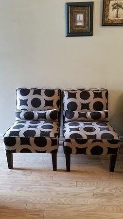 Super clean contemporary chair pair