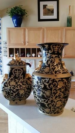 Large, heavy decorator quality vases