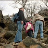 First hike in New York. Feb 2004. Going up Breakneck Ridge
