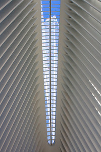 The Freedom Tower from inside the Oculus
