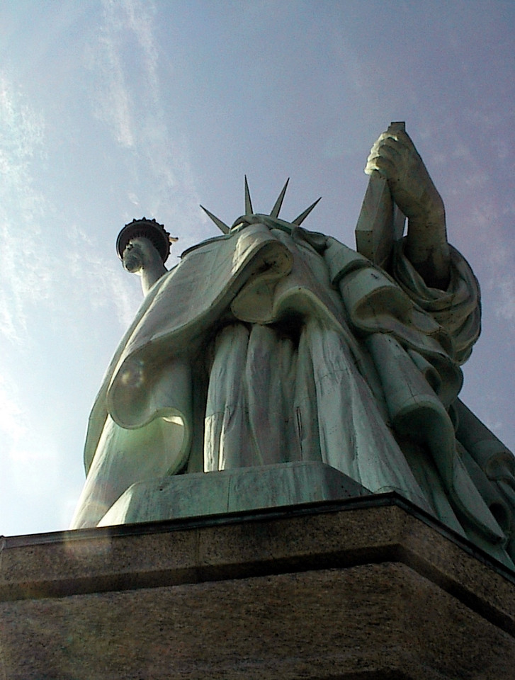 Remembering New York <br /> <br /> Statue of Liberty from Below March 2001