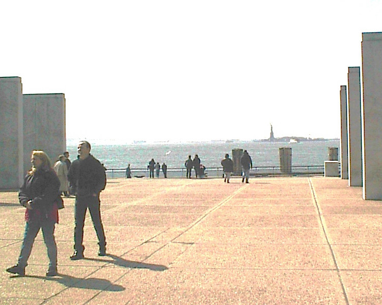 Remembering New York <br /> <br /> State of Liberty from Dock March 2001