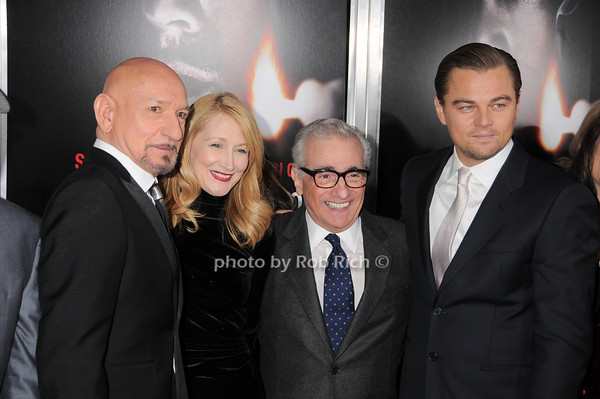 Sir Ben Kingsley, Patricia Clarkson, Martin Scorsese, Leonardo DiCaprio<br /> photo by Rob Rich © 2010 robwayne1@aol.com 516-676-3939