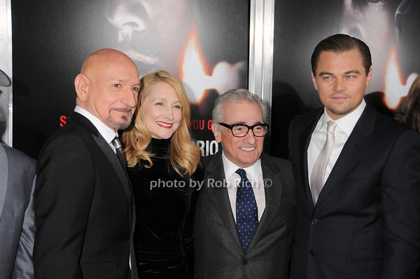 Sir Ben Kingsley, Patricia Clarkson, Martin Scorsese, Leonardo DiCaprio<br /> photo by Rob Rich © 2010 robwayne1@aol.com 516-676-3939