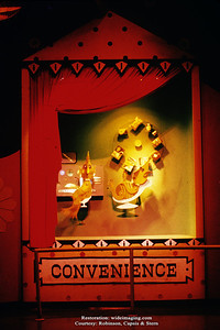 "The Better Living Pavilion's Borden exhibit puppet sideshow ""Convenience"""