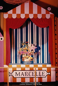 "The Better Living Pavilion's Borden exhibit puppet sideshow ""Marcelle Cosmetics"""