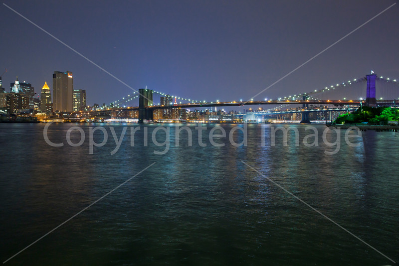 Downtown NY from Brooklyn Bridge Park after sunset