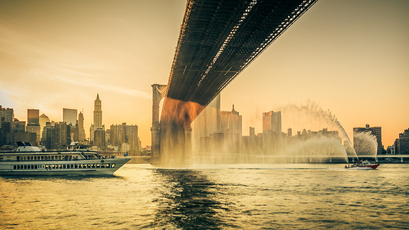 Lightroom Organization - East River Sunset Shower