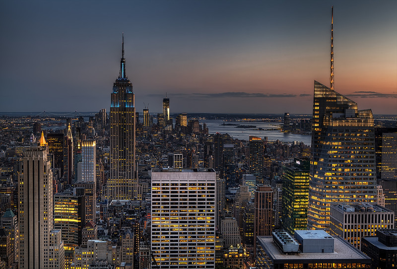 New York city, viewed from the 'Top of the Rock'