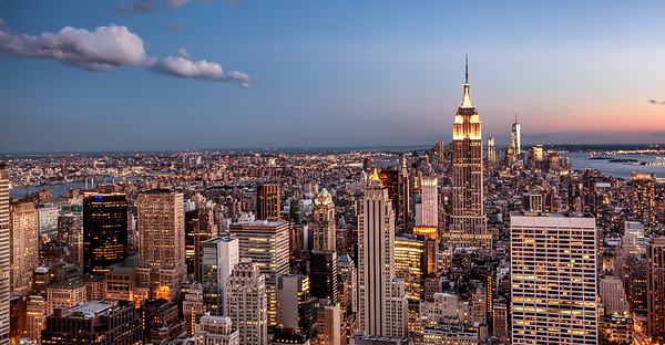 new york twilight photography, top of the rock, architectural photography