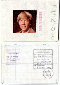 Here is my passport photo and my six-month visa that I acquired in Los Angeles before my departure.