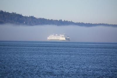 Ferry coming from Langley on Whidbey Island and heading across the Sound to Mukilteo.