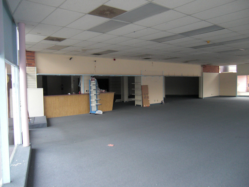Future retail parts room from sales floor.