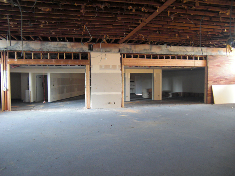 Future retail parts room with raised doorway.