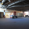 Sales floor after first layer removal.