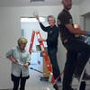 Painting the office as a family...