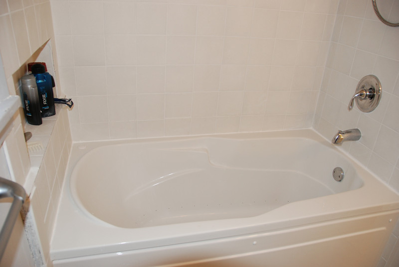 Tub after. This is a Picadilly model Aerosens tub by Maax advantage. It has airjets instad of the traditional whirlpool jets. They clean and dry automatically, so you never have to clean them.