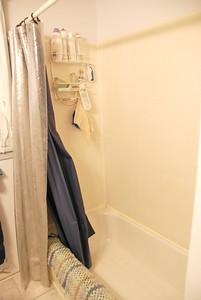 Before: Back of shower