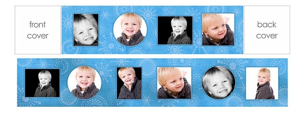 "3x3 mini brag book ""little boy blue""  3""x3"" mini brag books are a parent favorite!  These little books, sold in sets of three, have ten pages filled with precious images of your little one.  They are the perfect gift size and great for grandparents, your purse, the office...you name it!  This mini brag book comes with a dark blue front and back cover.  To fill this brag book, you will need to choose 10 images from your gallery, making sure that at least two are horizontal and two are vertical.  It's as simple as providing Jen with your 10 chosen images and letting her place them where they work best.  PLEASE NOTE THAT YOU MUST PICK IMAGES FROM YOUR ONLINE GALLERY THAT HAVE THE SAME ORIENTATION AS THE TEMPLATE REQUESTS (e.g., you MUST choose a vertical image for a vertical opening and a horizontal image for a horizontal opening).  If incorrect images are chosen, the next closest ""correct"" image will be chosen by Jen to replace any incorrect choices.  If you have questions about the difference between vertical and horizontal images, please ask prior to order submission.  Thanks!"