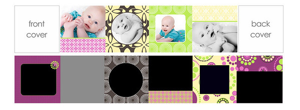"3x3 mini brag book ""sweetie""  3""x3"" mini brag books are a parent favorite!  These little books, sold in sets of three, have ten pages filled with precious images of your little one.  They are the perfect gift size and great for grandparents, your purse, the office...you name it!  This mini brag book comes with your choice of a pink front and back cover.  To fill this brag book, you will need to choose 10 images from your gallery, making sure that at least four are horizontal.  It's as simple as providing Jen with your 10 chosen images and letting her place them where they work best.  Please include your cover color choice with your order.  PLEASE NOTE THAT YOU MUST PICK IMAGES FROM YOUR ONLINE GALLERY THAT HAVE THE SAME ORIENTATION AS THE TEMPLATE REQUESTS (e.g., you MUST choose a vertical image for a vertical opening and a horizontal image for a horizontal opening).  If incorrect images are chosen, the next closest ""correct"" image will be chosen by Jen to replace any incorrect choices.  If you have questions about the difference between vertical and horizontal images, please ask prior to order submission.  Thanks!"