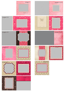 "10x10 ""pretty in pink"" keepsake album<br /> <br /> Showcasing eighteen of your favorite images from your session in an oh-so-girly layout, the ""pretty in pink"" album is the perfect keepsake from a maternity session or child session alike! Your pictures are printed on high quality album pages featuring a fine linen finish with rounded corners and finished with a custom cover featuring an image and text of your choice.  The twenty-page album layout is exactly as shown in the example pages you are viewing so you'll know exactly where each of your chosen images will fall within the album.<br /> <br /> ***ORDERING***<br /> Ordering your album is easy! Simply follow the page guides below to select your images, and email your image selections by page to Jen with your order. Please note that choosing a picture of a different orientation than the template requests will result in significant cropping of your image (not recommended).  If you have questions about using a vertical picture in a horizontal opening, please check with Jen prior to order submission to see if the request can be accommodated.  If you have questions about the difference between vertical and horizontal images, please ask prior to order submission.  Additionally, please make sure you double-check your order against the page guide below.  Republishing of your gallery for any reason after the expiration date will incur an extension fee.  Thanks!<br /> <br /> Cover:<br /> - choose any image; will be cropped to square.  Include any desired text.<br /> <br /> Page 1:<br /> - choose one horizontal picture<br /> - space for optional text is available (e.g., baby's name, a favorite verse, waiting for baby, etc.)<br /> <br /> Pages 2-3:<br /> - choose one vertical picture (on left) and one horizontal picture (right side)<br /> <br /> Pages 4-5:<br /> - choose one picture to be cropped to square for left side of page<br /> - choose one horizontal picture for right side of page<br /> <br /> Pages 6-7*:<br /> - choose one vertical picture for left side of page<br /> - choose one horizontal image for right size of page<br /> * these image can be turned if you prefer - please note the change when placing your order<br /> <br /> Pages 8-9:<br /> - choose one picture, any orientation (will be cropped to square) for left side of page<br /> - choose one horizontal picture for right side of page<br /> <br /> Pages 10-11:<br /> - choose one vertical picture for left side of page<br /> - choose one horizontal picture for right side of page<br /> <br /> Pages 12-13:<br /> - choose two images any orientation to be cropped to square<br /> - note which is the large image on the left and the small image on the right<br /> <br /> Pages 14-15*:<br /> - include your personal text here - a favorite verse, a love letter to your child, etc.  email chosen text to Jen with your order<br /> - choose one vertical image on right side of page<br /> * image on page 15 can be turned horitontal<br /> <br /> Pages 16-17:<br /> - choose one horizontal image<br /> <br /> Pages 18-19:<br /> - choose two images, any orientation (each will be cropped to square)<br /> - note which image is left and which is right<br /> - text on left page is optional / customizable (note preference with your order); if no text is emailed then text area will be left blank<br /> <br /> Page 20:<br /> - choose one horizontal picture<br /> <br /> DUPLICATE books or albums come with an espresso leather cover.  Custom covers can be purchased if desired."