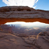 Mesa Arch after sunrise.