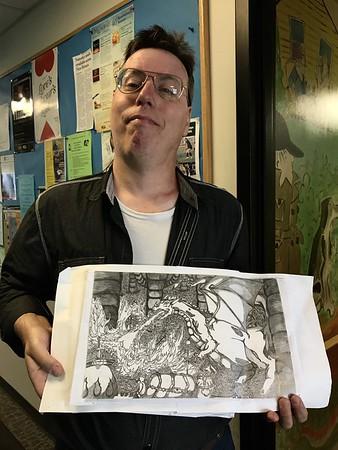 Guy holding art-070517