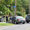 09/21/17 Wesley Bunnell | Staff<br /> <br /> Police block the intersection of Fisk & Lloyd St in Newington on Thursday morning due to a police standoff on nearby Gilbert Rd.
