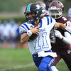 9/16/2017 Mike Orazzi | Staff<br /> Plainville's Frank Griffin (11) during Saturday's football game  in Hartford.