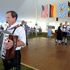 9/23/2017 Mike Orazzi | Staff<br /> Schachtelgebirger Musikanten's Freddie Meier performs during the St. Peter Church Oktoberfest in New Britain Saturday.