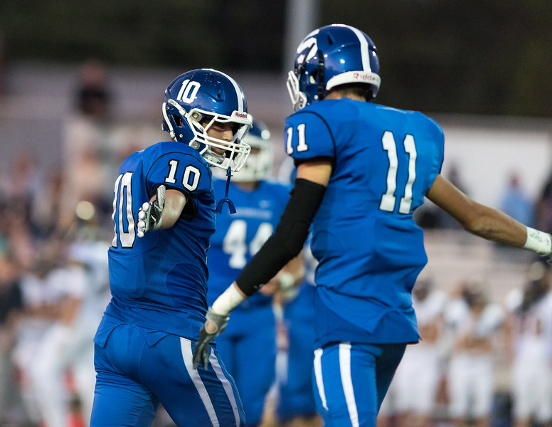 09/15/17  Wesley Bunnell   Staff<br /> <br /> Southington vs Simsbury on Friday evening at Southing High School. Joseph Koczera (10) and Samuel Thomson (11).