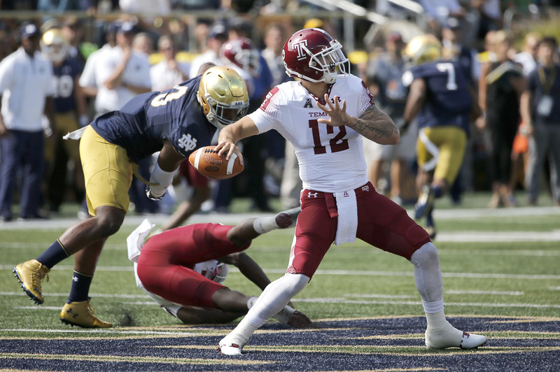 Temple Notre Dame Football