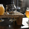 6/24/2017 Mike Orazzi | Staff<br /> Beer samples during the opening of the Alvarium Beer Company on John Downey Drive in New Britain Saturday.