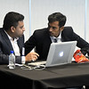 11/16/2017 Mike Orazzi | Staff<br /> Sajiv Francis and Lalith Kumar while working on a coding presentation during the 2017 College Tech Challenge Final featuring the best computer and engineering students from colleges and universities all over CT held at the DoubleTree by Hilton Hotel in Bristol Thursday.