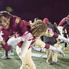 11/17/17  Wesley Bunnell | Staff<br /> <br /> New Britain football defeated Berlin in its last game to finish 5-5 on the season at Veterans Stadium on Friday evening.  Tahje Yopp (4) fireman carries Senior Cartagena Jensen (21) across the field.