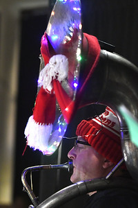 12/16/2017 Mike Orazzi | Staff Ray Smith during the 3rd Annual Tuba Christmas at Trinity-On-Main in downtown New Britain Saturday.