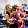 021017  Wesley Bunnell | Staff<br /> <br /> Southington girls basketball vs Farmington on Friday Feb. 10 at Southington High School.  Southington's Janette Wadolowski (33) fights for a rebound.